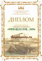 Диплом Web Realtor 2009